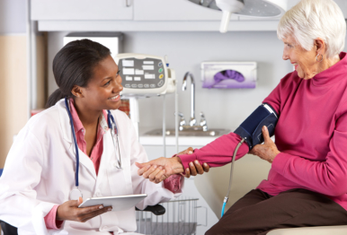 doctor checking the blood pressure